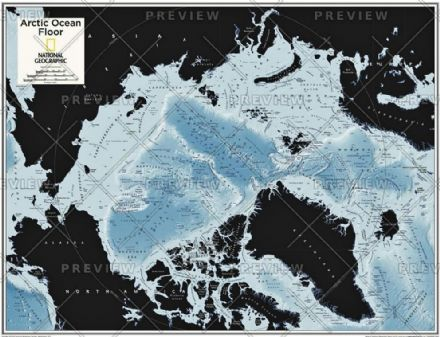Arctic Ocean Floor - Atlas of the World, 10th Edition 2015 by National Geographic